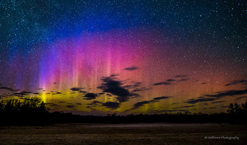 Northern Lights on Beaver Island- Frank Solle