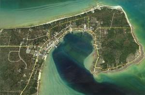 "Aerial view of ""Downtown"" Beaver Island Half Marathon, August 30, 2014"