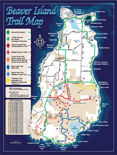 Beaver Island Trails Map